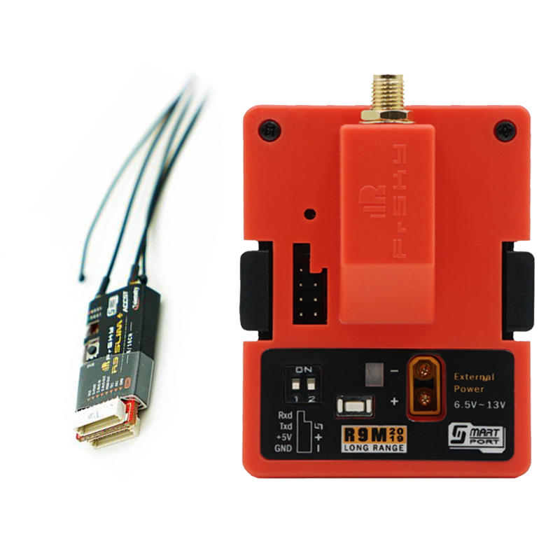 Frsky R9M 2019 900MHz Long Range Transmitter Module & R9 Slim+ Receiver w/ T Antenna ComboFrsky R9M 2019 900MHz Long Range Transmitter Module & R9 Slim+ Receiver w/ T Antenna Combo