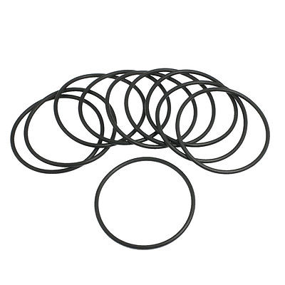 10 Pcs 67mm x 3.1mm Black Silicone O Rings Oil Seals Gaskets