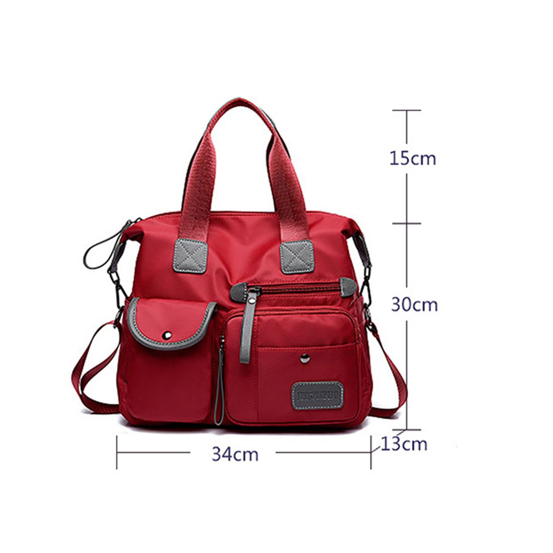 HEBA New Ladies Fashion Waterproof Oxford Tote Bag Casual Nylon Shoulder Bag Mummy Bag Large Capacity Canvas Bag