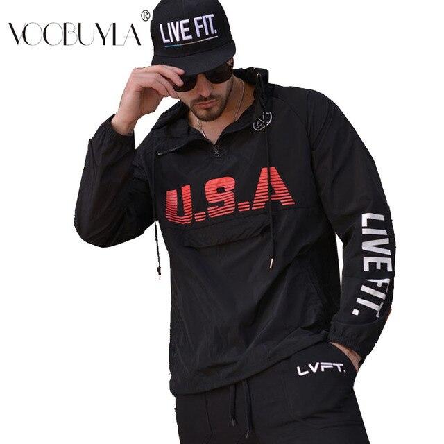 Voobuyla мужская куртка для бега Спортивная Фитнес с длинными рукавами с капюшоном на молнии для спортзала Футбол Баскетбол для тренировок и бега на открытом воздухе куртки для бега