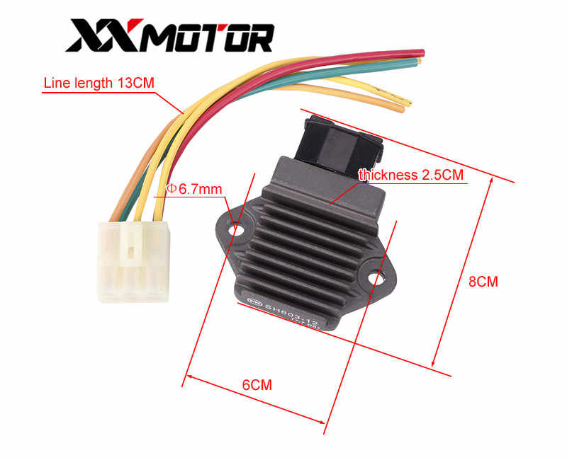 Motorcycle Rectifier Voltage Regulator Charger with plug For HONDA on cb450 wiring diagram, cbr 1000 rr wiring diagram, vtx 1800 wiring diagram, cb 360 wiring diagram, ft 500 wiring diagram,