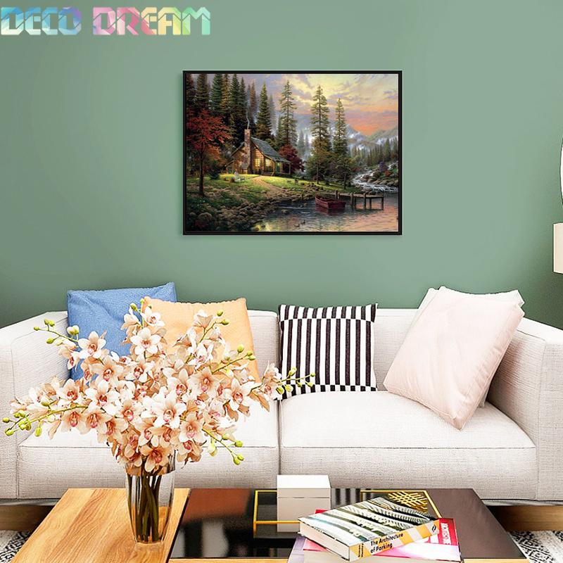 Aliexpress Value Set Wholesale 5pcs lot Diy Full Resin Round Diamond Painting Cross Stitch Embroidery In