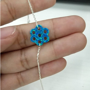 Image 3 - Hill san Lotus 20PCS/Lot  New arrived 20mm 7eyes Hole Synthetic opal necklace