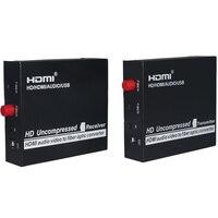 Премиум HDMI волоконно оптические расширители 3g 1080 P full HD HDMI по волокну оптические конвертеры передатчик и Recevier FC 20 км