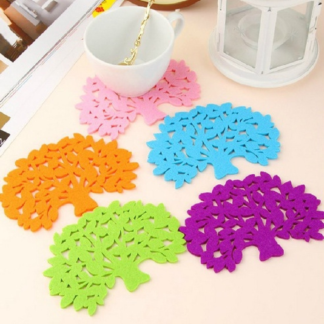 Good Cute Silicone Coffee Placemat Button Coaster Cup Mug Glass Beverage Holder Table Mats Mat