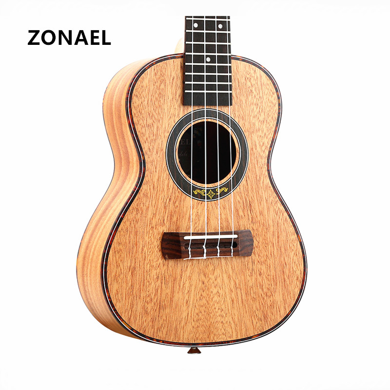 ZONAEL Ukulele 23 inch Acoustic Ukelele Mahogany Ukulele 4 Strings Guitar Guitarra Instrument Rosewood y-09/23