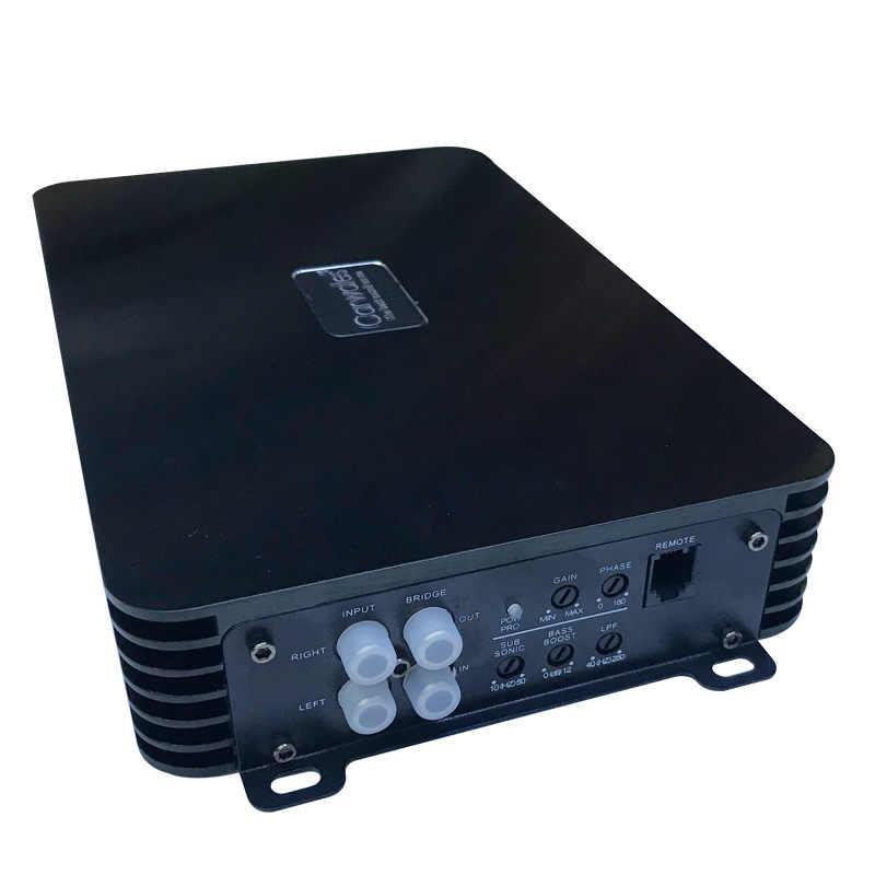 2017 Новый автомобильный аудио класса D Цифровой усилитель, усилитель звука черный стальной матовый алюминиевый ящик специально для сабвуфера макс