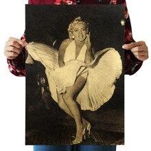 Мэрилин Монро оберточная бумага в винтажном стиле классический постер фильма журнал художественные украшения для кафе бара ретро-плакаты и принты