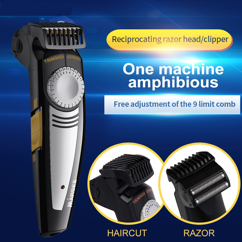 2018 professional Rechargeable Electric razor and Hair Clipper Ceramic Titanium Blade 2 in 1 Razor Shaver and haircut knift philips brl130 satinshave advanced wet and dry electric shaver