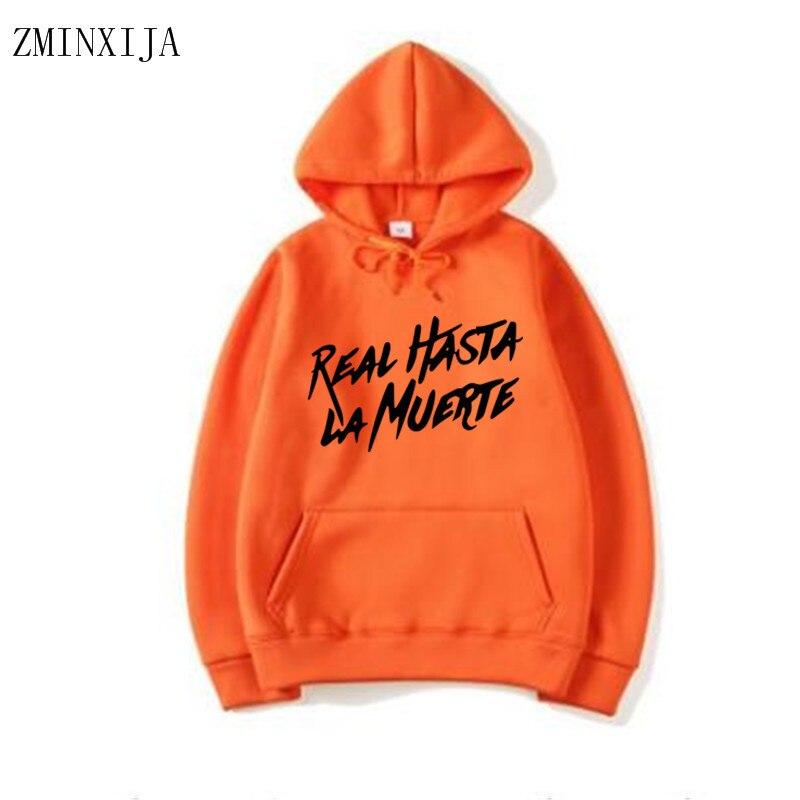 Anuel Aa Real Hasta La Muerte Cabron Men's Hoodie Sweatshirt Men's Fashion Hip Hop Autumn Winter New