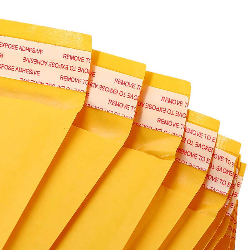 50 Pcs/lot Kraft Kertas Gelembung Amplop Tas Mailer Empuk Pengiriman Amplop dengan Gelembung Mailing Tas Drop Pengiriman