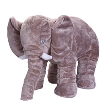 50 cm Colorful Giant Elephant Stuffed plush Animal Shape Pillow Baby Toys Including the nose