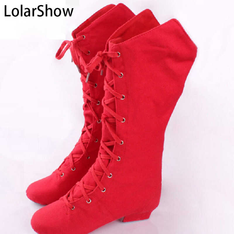Red teaching jazz dancing shoes