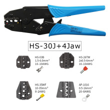 HS-30J 9 ratchet crimping tool pliers for terminals 0.5-6.0mm² jaw kit electrical multi hands