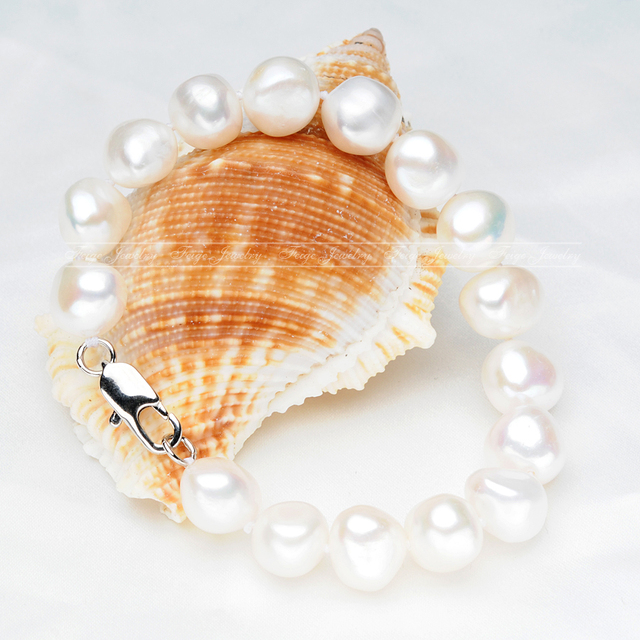 Natural White Freshwater Pearl Bracelet