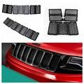 7 шт. Черный Вставить Honeycomb Передняя Решетка Сетки Гриль Аксессуары Для Jeep Grand Cherokee 2014 2015