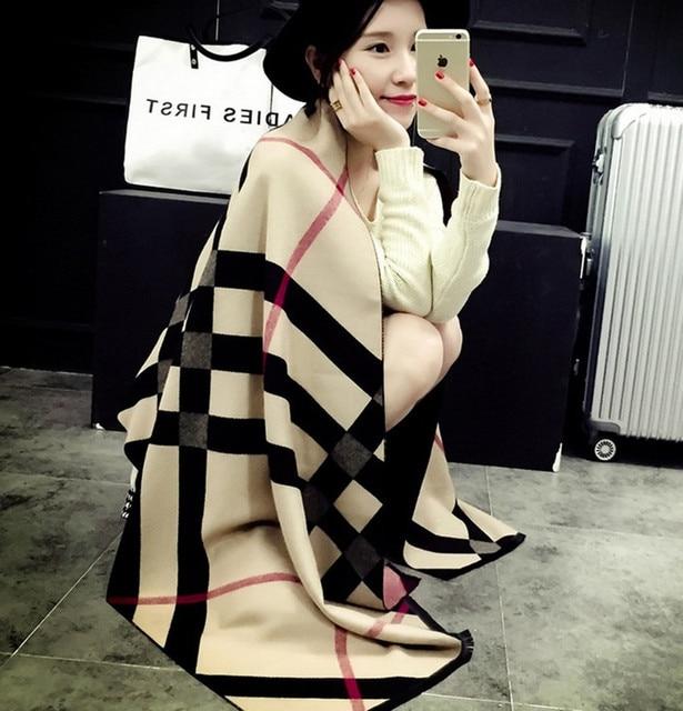 Новый Кашемировый Шарф Женщин Длинные Мода Теплый Платок Осенью и Зимой толщиной решетки Шарфы