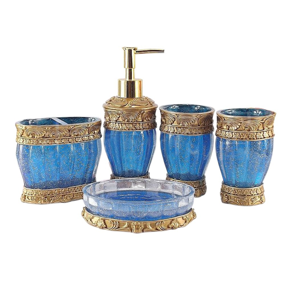 amazing royal blue bathroom accessories photos - home decorating