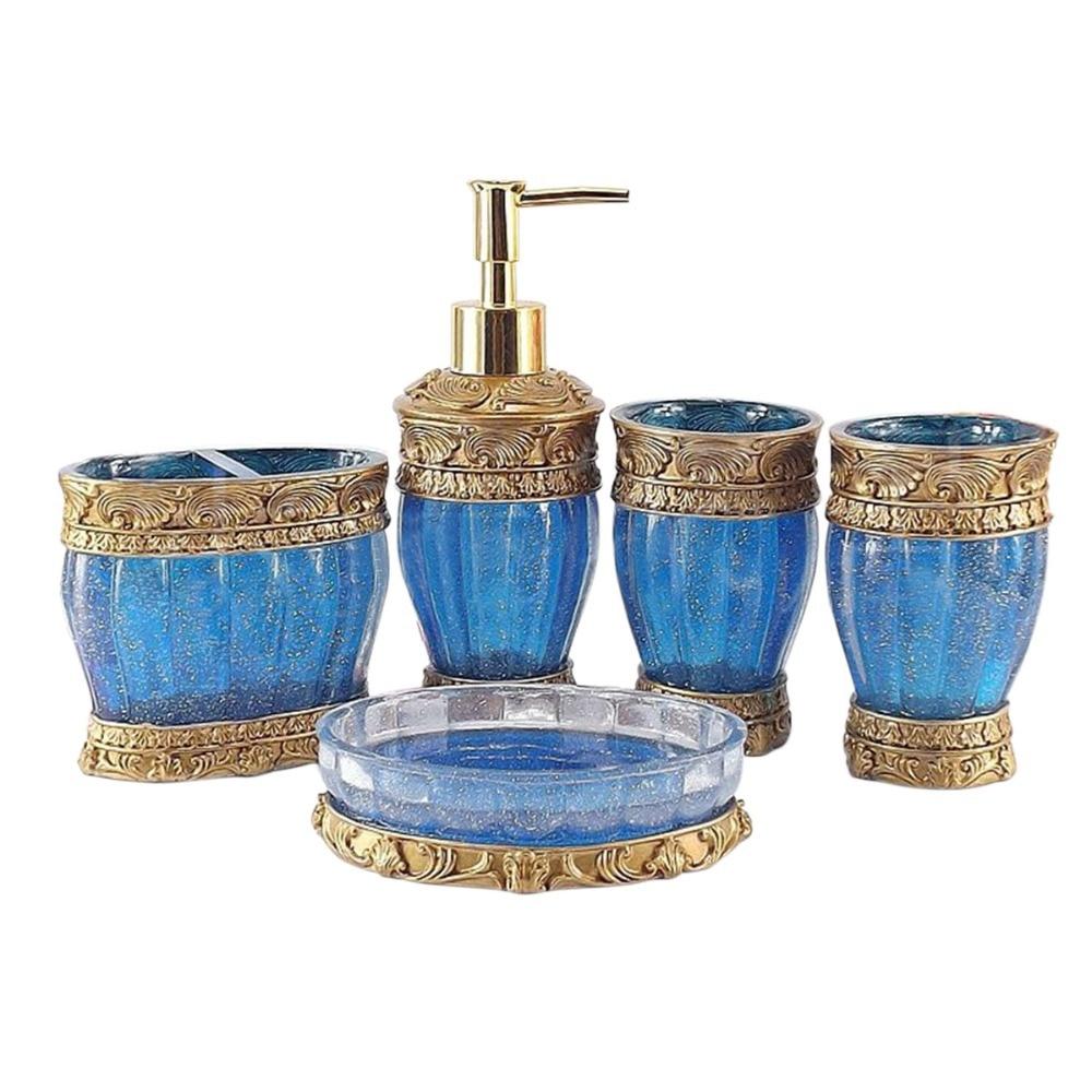 Simple 50 red blue bathroom accessories decorating for Blue and green bathroom accessories