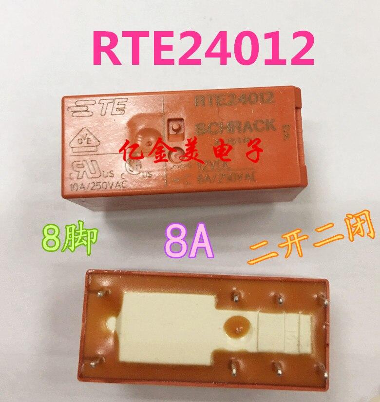 RTE24012F Power Relay 8A 12VDC 8 Pins x 10pcs