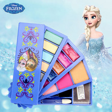 лучшая цена Disney Pretend Play Beauty  Fashion Toys Frozen Child Cosmetic Set Girl Toy Makeup Box House Eye Shadow Blush For Kids Gift