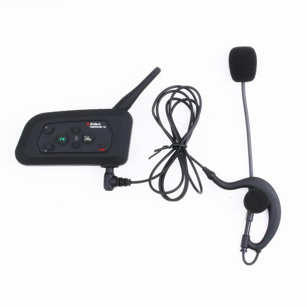 New 1200M Motorcycle Bluetooth Helmet Intercom for 4 riders BT MP3 Wireless intercomunicador Interphone Headsets