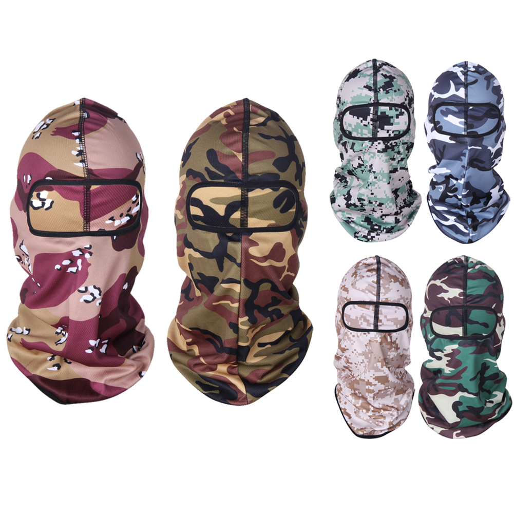 Outdoor Jungle Camouflage Full Face Mask Tactical Cycling Mask Motorcycle Windproof Sports Ski Snowboard Bicycle Mask