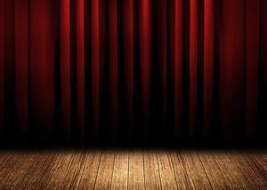 Image 4 - Fondo de cortina de escenario Rojo Negro estratificado fondos de estudio de fotografía 5x7ft stand Shoot Props
