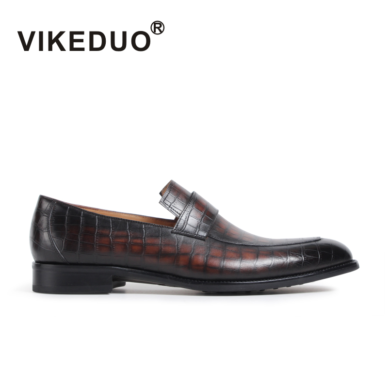 2018 Vikeduo Classic Retro Male Handmade Custom Made Genuine Leather Shoes Office Wedding Party Original Design Men Loafer Shoes 2017 vintage retro custom men flat hot sale real mens oxford shoes dress wedding party genuine leather shoes original design