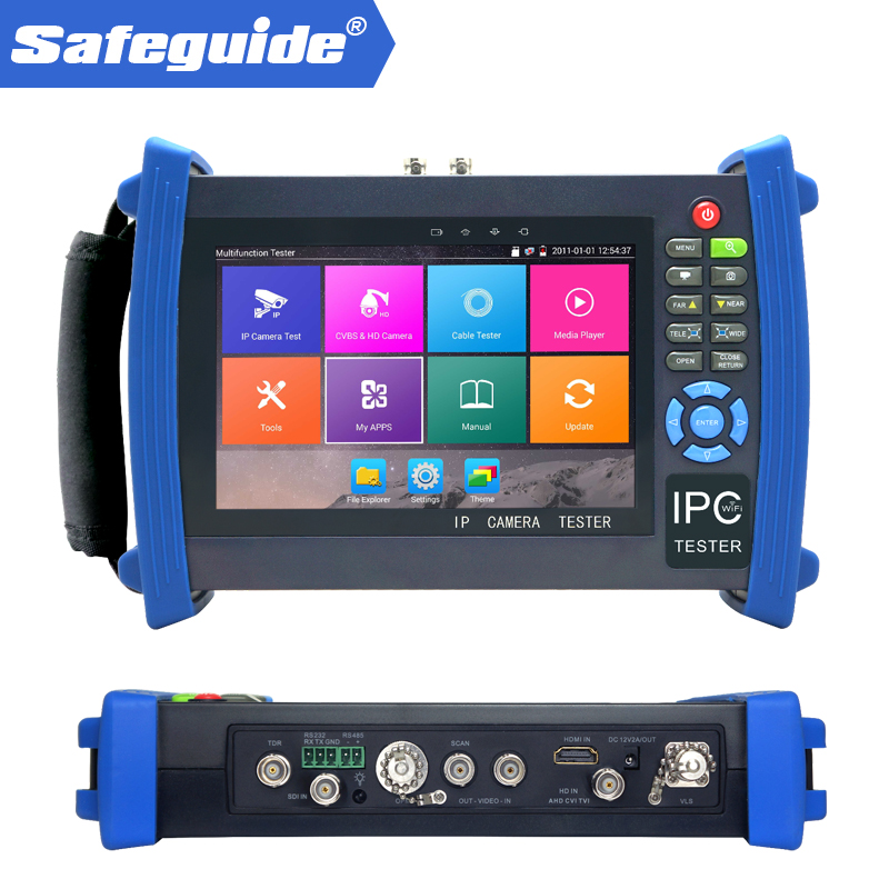 7 Android system CCTV Tester with WIFI,Browser,POE,cable test etc for IPC-8600MOVTADHS PLUS CCTV TESTER image