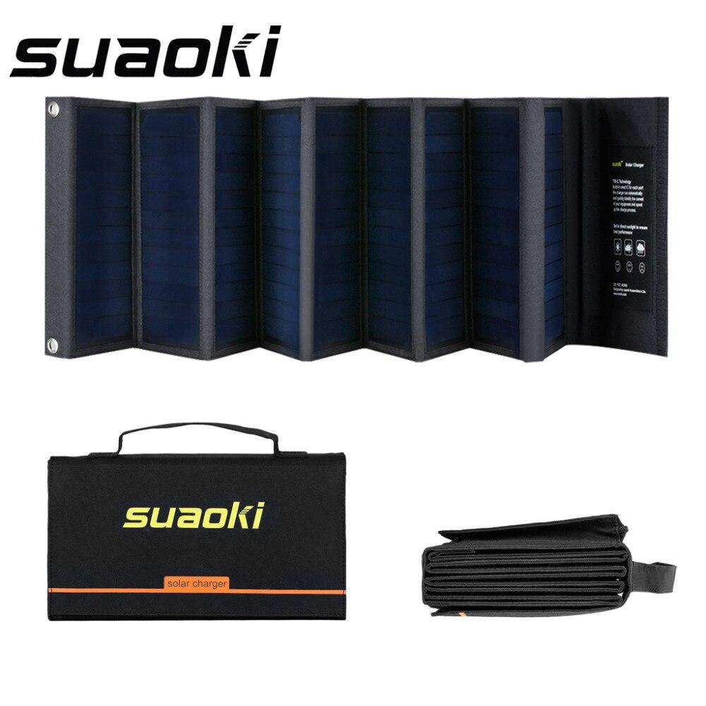 Suaoki 60w Solar Panels 18v 5v Portable Folding Foldable