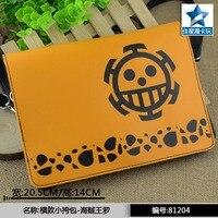 Anime One Piece Trafalgar Law Flap Crossbody Satchels High Quality PU Single Handbag Mini Messenger Bag
