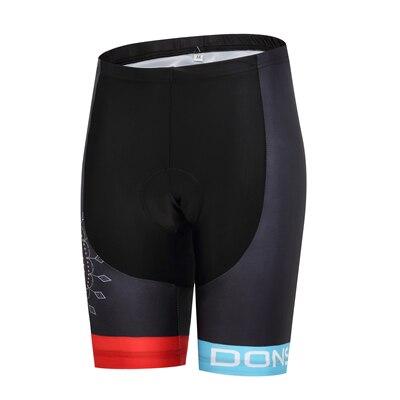 Шорты для велосипедистов MTB Женская профессиональная одежда для велоспорта Женская Спортивная одежда для спорта на открытом воздухе дышащие велосипедные шорты с вкладышами гель - Цвет: DS008WS