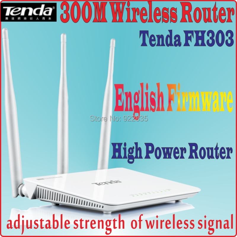Helpful Eng-firmware Tenda Fh303 300mbps Wireless Router 300m Wifi Repeater,range Expander With Signal Boosters,prom5 3* 5dbi Antennas