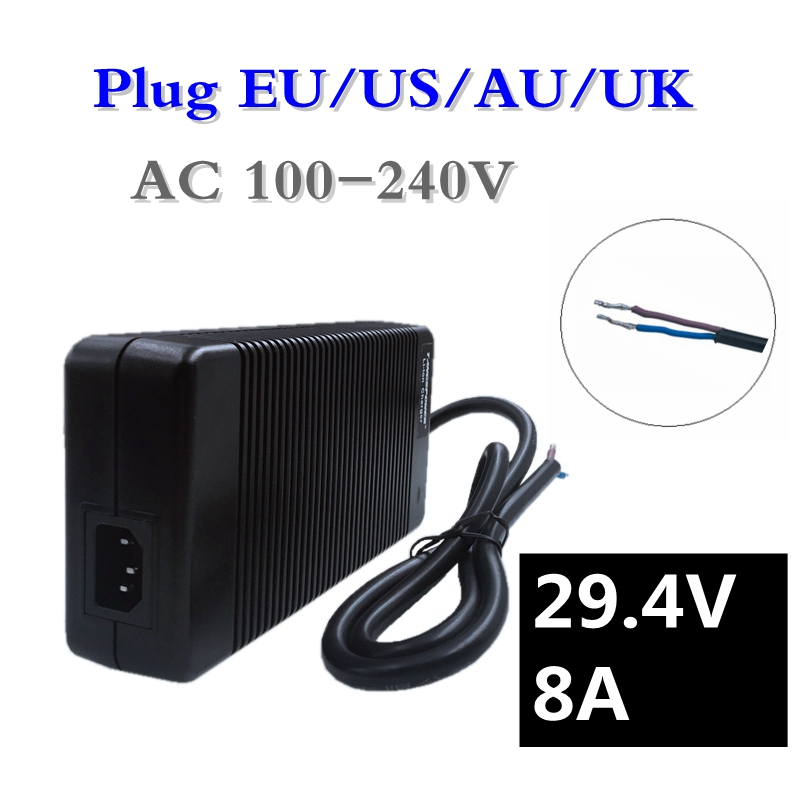 купить 252W 29.4V 8A Li-ion Battery Charger 24V Lead acid Battery Charger Input 100-240Vac for 7Series 24V lithium battery pack по цене 5301.09 рублей