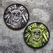 Embroidery Badge Army-Patches Clothing Decor Skull Sergeant Tactical for Hat Bag Armband