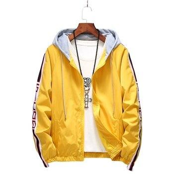 5cb2176c265 Kuyomens куртка для мужчин лето с капюшоном солнцезащитный крем куртки  ветровка Модная брендовая одежда женщин Veste Homme