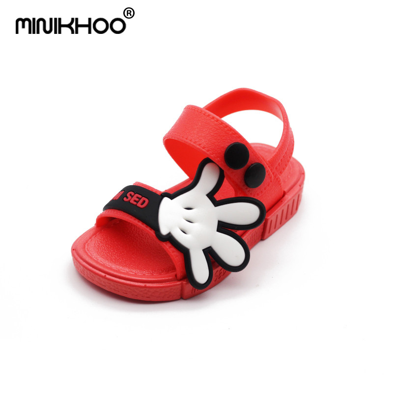 Mini Melissa 2018 Cute Mickey Palm Boys Sandals Girls Jelly Sandals Non-slip Child MINI Sandals 12cm-17cm High Quality Melissa