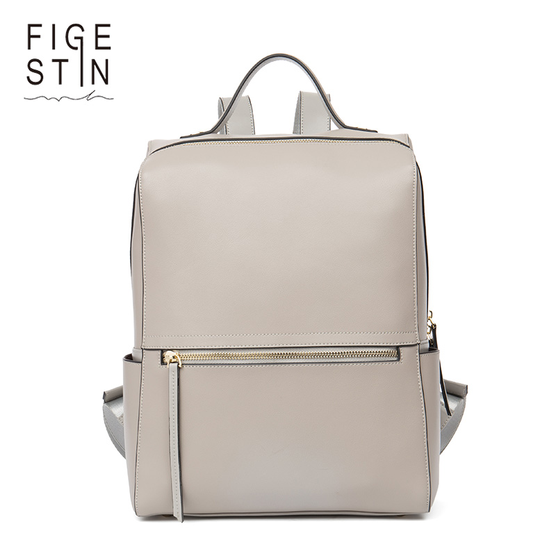 FIGESTIN Fashion Korean Women Leather Backpacks High Quality Female Travel Bag Mochila Feminina School Bags for Teenagers new arrival women pu leather backpacks female school bags for teenagers simple couple shoulder bag string bag mochila feminina