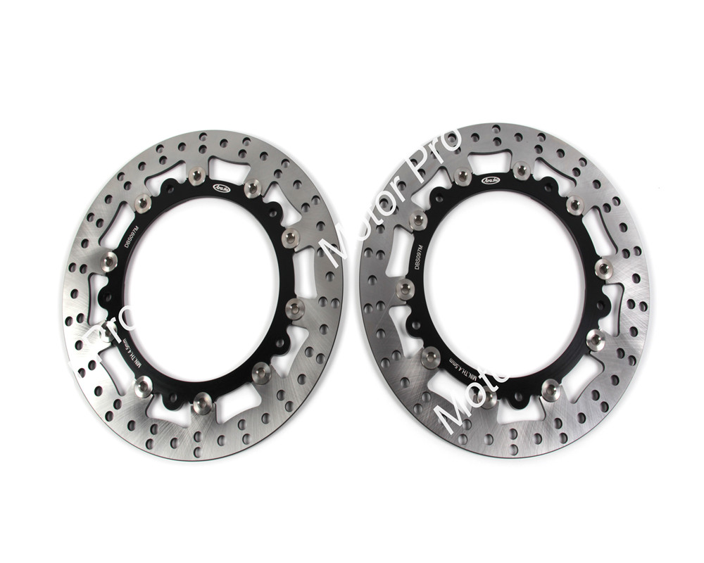 2 PCS CNC Motorcycle Front Brake Disc FOR BMW R1100GS R 1100/1150 GS 1997 1998 1999 2000 2001 R 1100 S brake disk Rotor 1pcs cnc motorcycle front brake disc for bmw f650 f 650 1994 1995 1996 1997 1998 1999 2000 2001 f650 cs f650 gs brake disk rotor