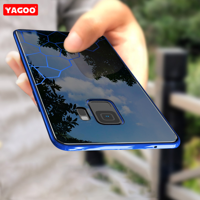 YAGOO S9 Plus Case For Samsung S9 Case Cover Shockproof Men Business Back Cover For Samsung Galaxy S9 plus Case Capa S9+ Fundas