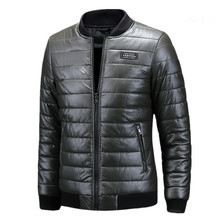 Men's Leather Jackets O-Neck Collar Coats Male Motorcycle Thick Leather Jacket Casual Business Slim Fit Outwear Men Coats mens pu leather jacket male business casual coats thick coats slim clothes jackets men cowboy jackets classic motorcycle bike
