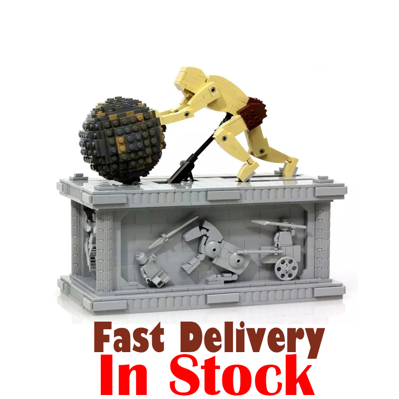 LEPIN 23017 Sisyphus Dynamics Scuture Technic Model Building Blocks Bricks Toys For Boy oyuncak 1462pcs Compatible legoINGly MOC new lepin 23017 1462pcs movie series moc le mythe de sisyphe building blocks bricks to holiday toys gift