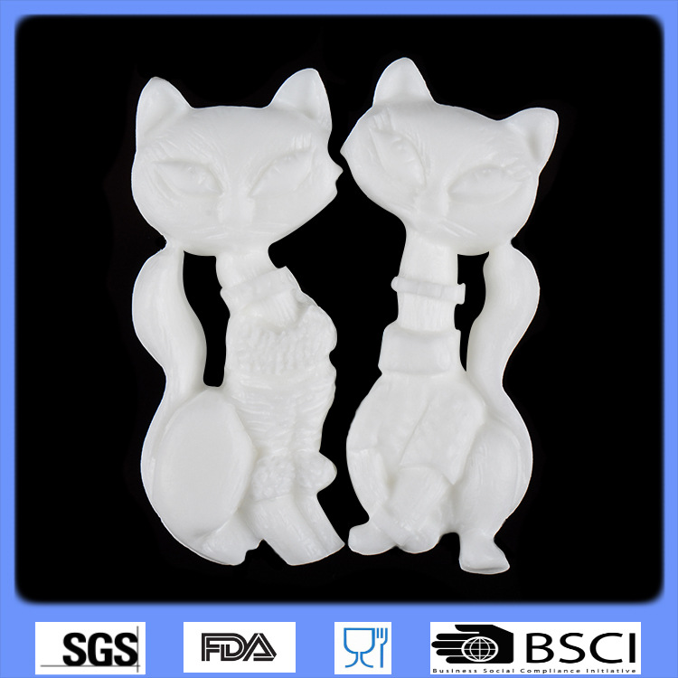 Beautiful animal fox sharp 3D Silicone cake fondant Mould tools font b Cookware b font Cake