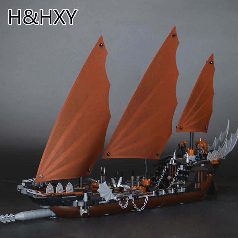 IN STOCK H&HXY 16018 756 Pcs Genuine The lord of rings Series The Ghost Pirate Ship Set Lepin Building Block Brick Toys 79008 jonsbo lord of the rings mod screw set red