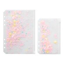 Творческий отрывными листами A5/A6 ПВХ молния вставить мешок руки Книга Альбом DIY творческих декоративные блестками