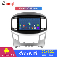 4G Lte All Netcom 9 inch Android Car Audio Player For Hyundai H1 2015 2018 stereo gps navigation system