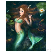 Diamond Painting Cross Stitch Embroidery Sexymermaidcartoon picture Diy Mosaic Picture Rhinestones Decoration