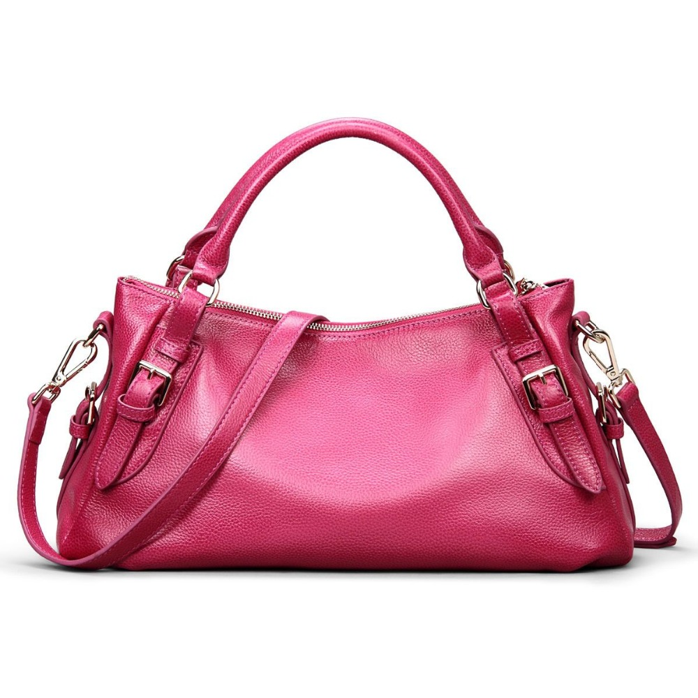 Sac à main en cuir véritable pour femme \ sac fourre-tout décontracté en cuir de vachette sacs Messenger sac à bandoulière femme rétro ~ qualité garantie ~ 13B252