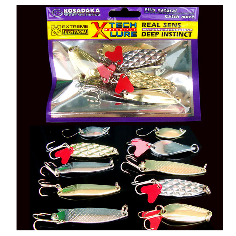 Fishing Lure Kit Spoon Fresh Salt Water Hard Bait Artificial Lures Natural Attraction Bass wldslure 1pc 54g minnow sea fishing crankbait bass hard bait tuna lures wobbler trolling lure treble hook